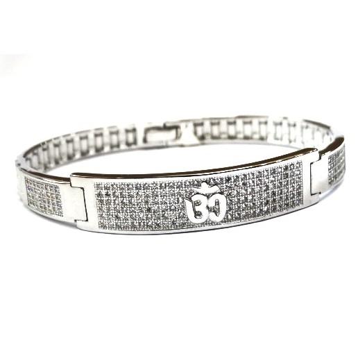 925 Sterling Silver Gents Om Kada Bracelet MGA - BRS0384