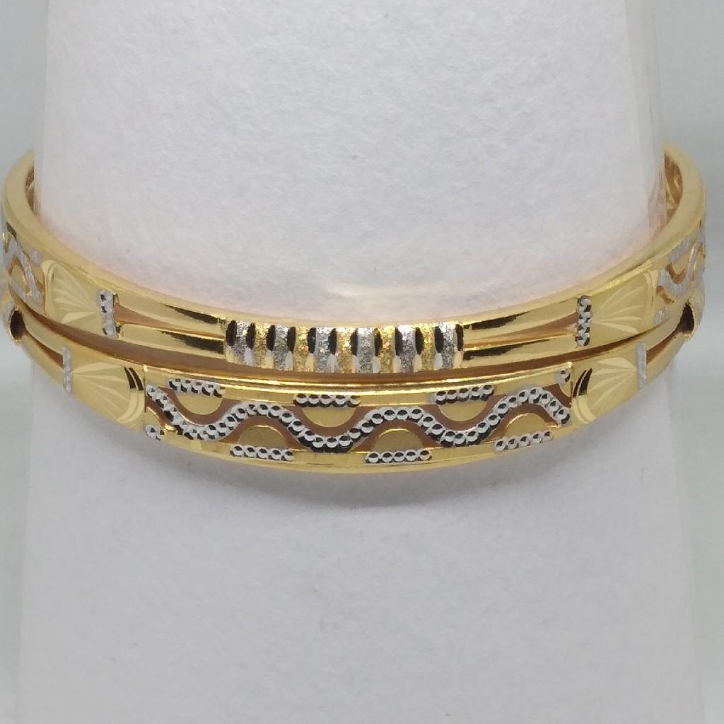 916 gold fancy 2pipe latest copper kadli