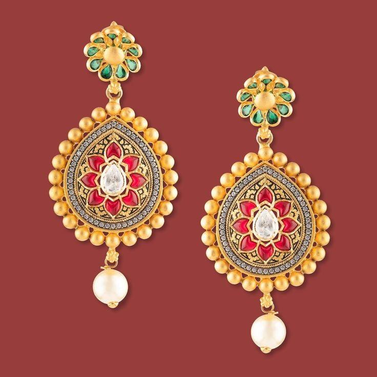 Tar Jadai Work Earring