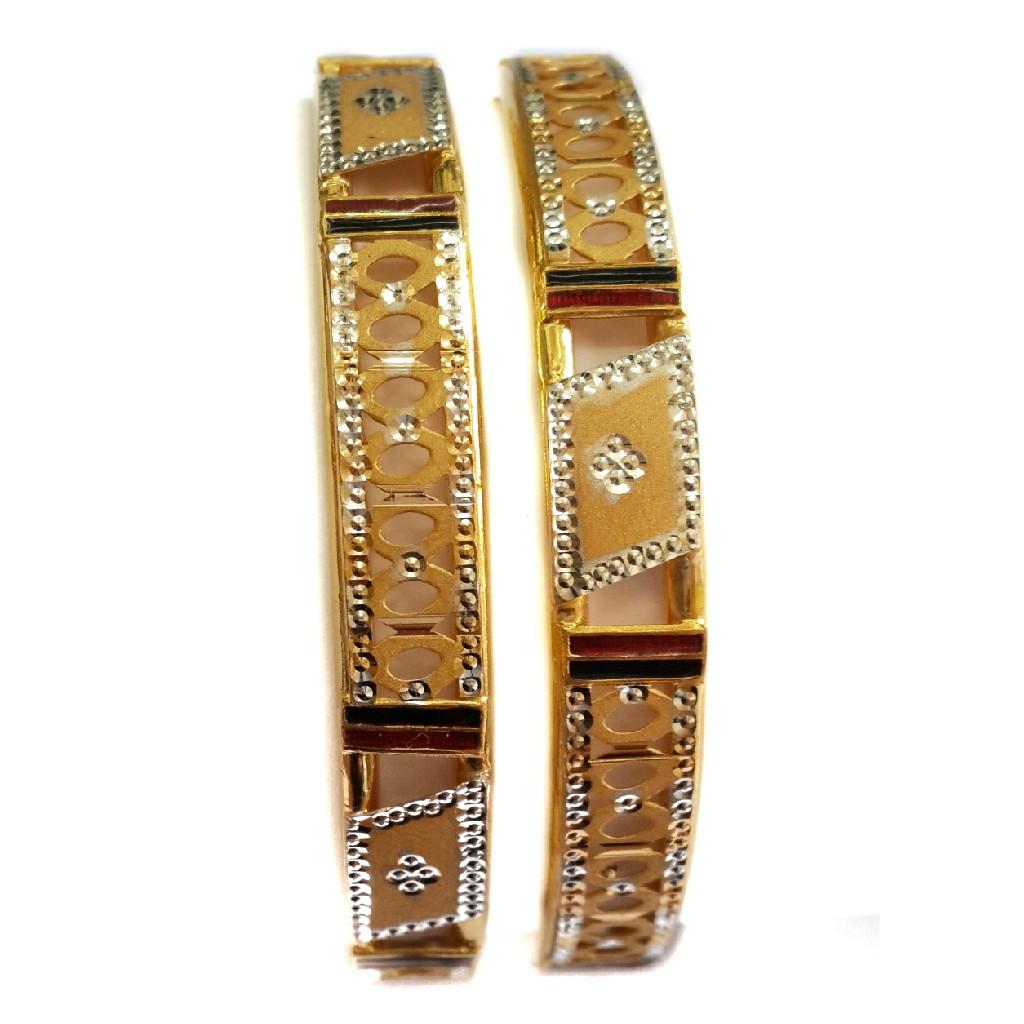 22k Gold Simple Design Kadli Bangles MGA - GK061