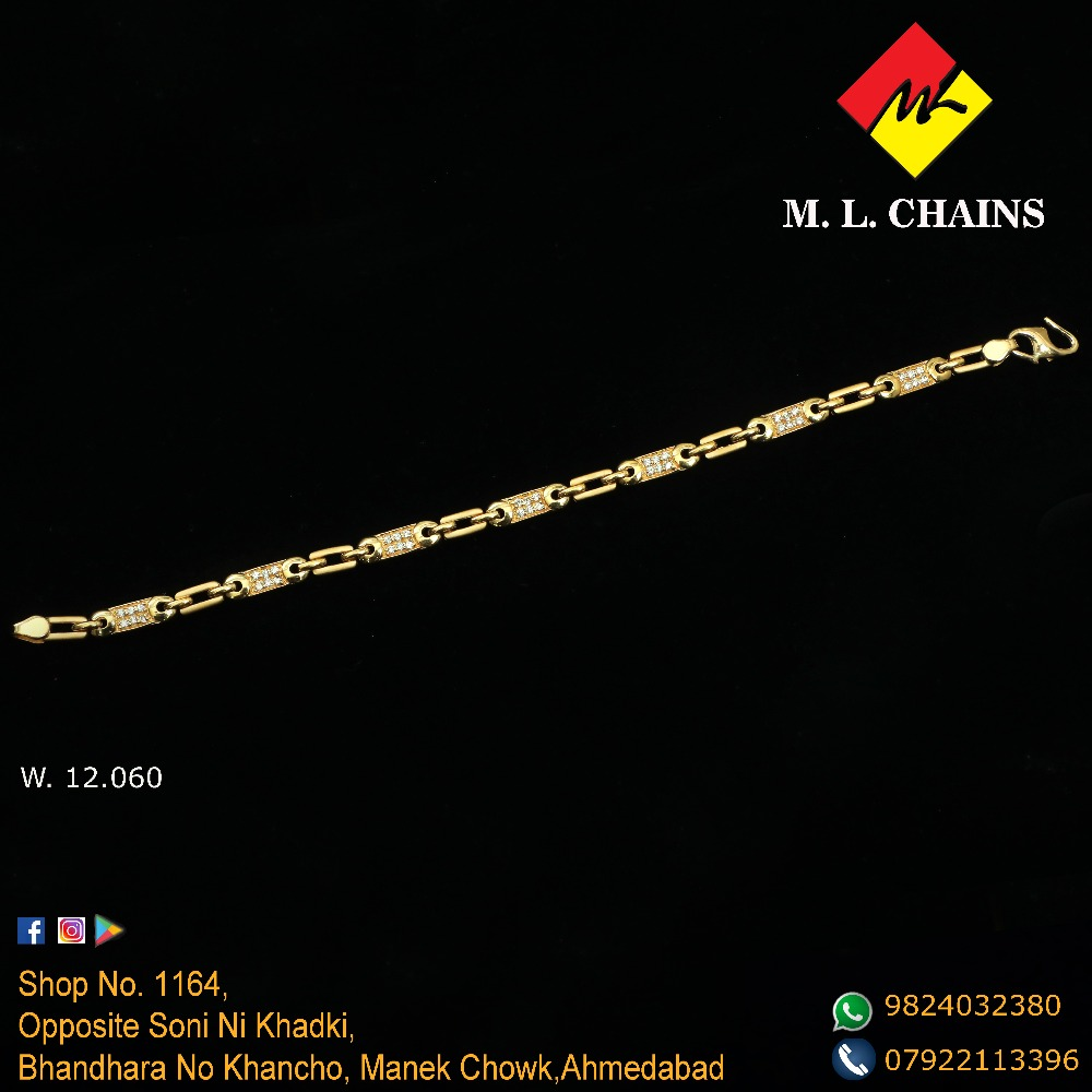 916 Gold Stylish Gents Lucky ML-B14