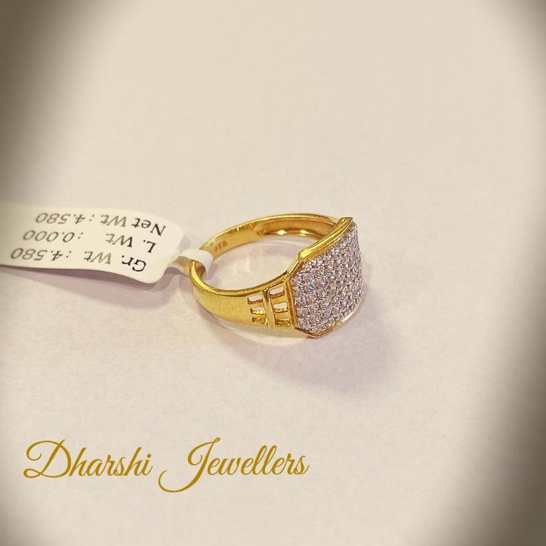 22K Gold Diamond designer Ring
