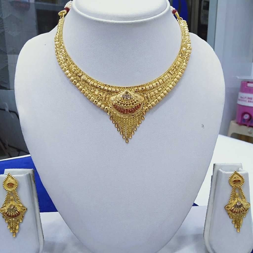 916 Gold Fancy Necklace Set RJ-N006
