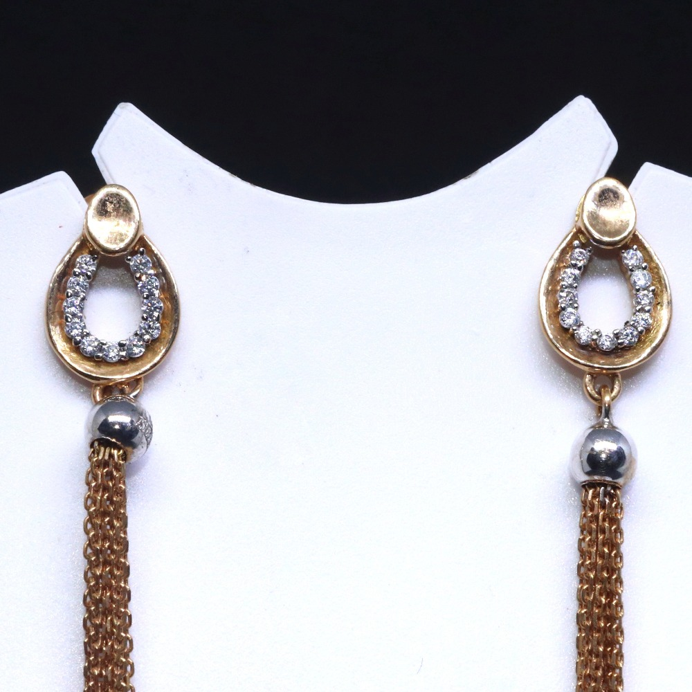 18ct rose gold special occasion long earring for ladies btg0305