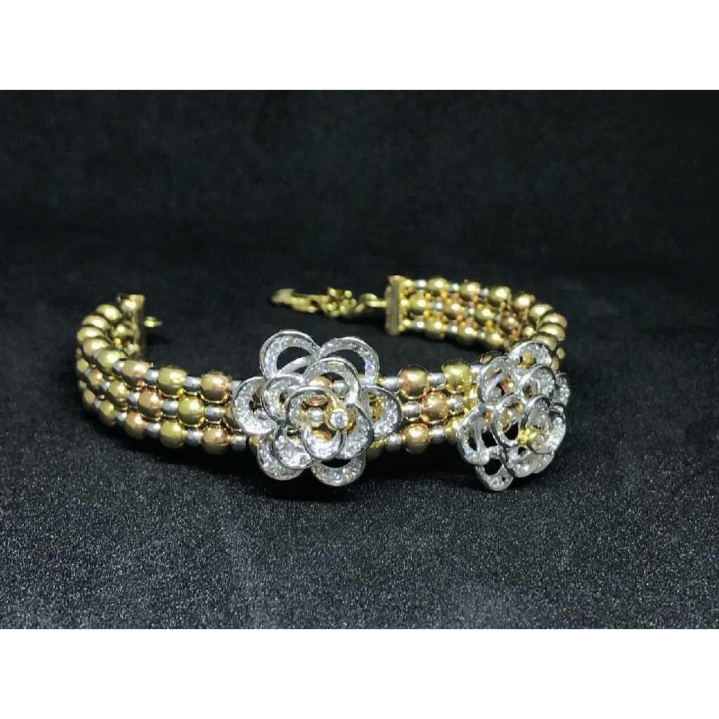 18k Ladies Fancy Gold Bracelet K-51043
