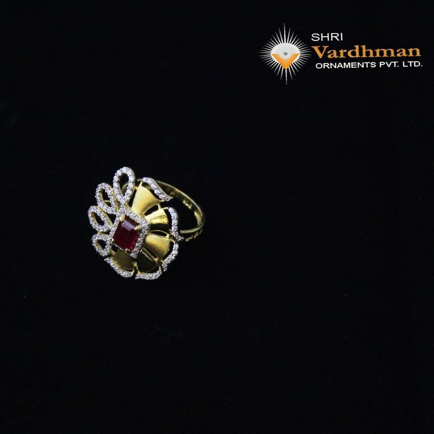 22ct(916) cz ladies ring