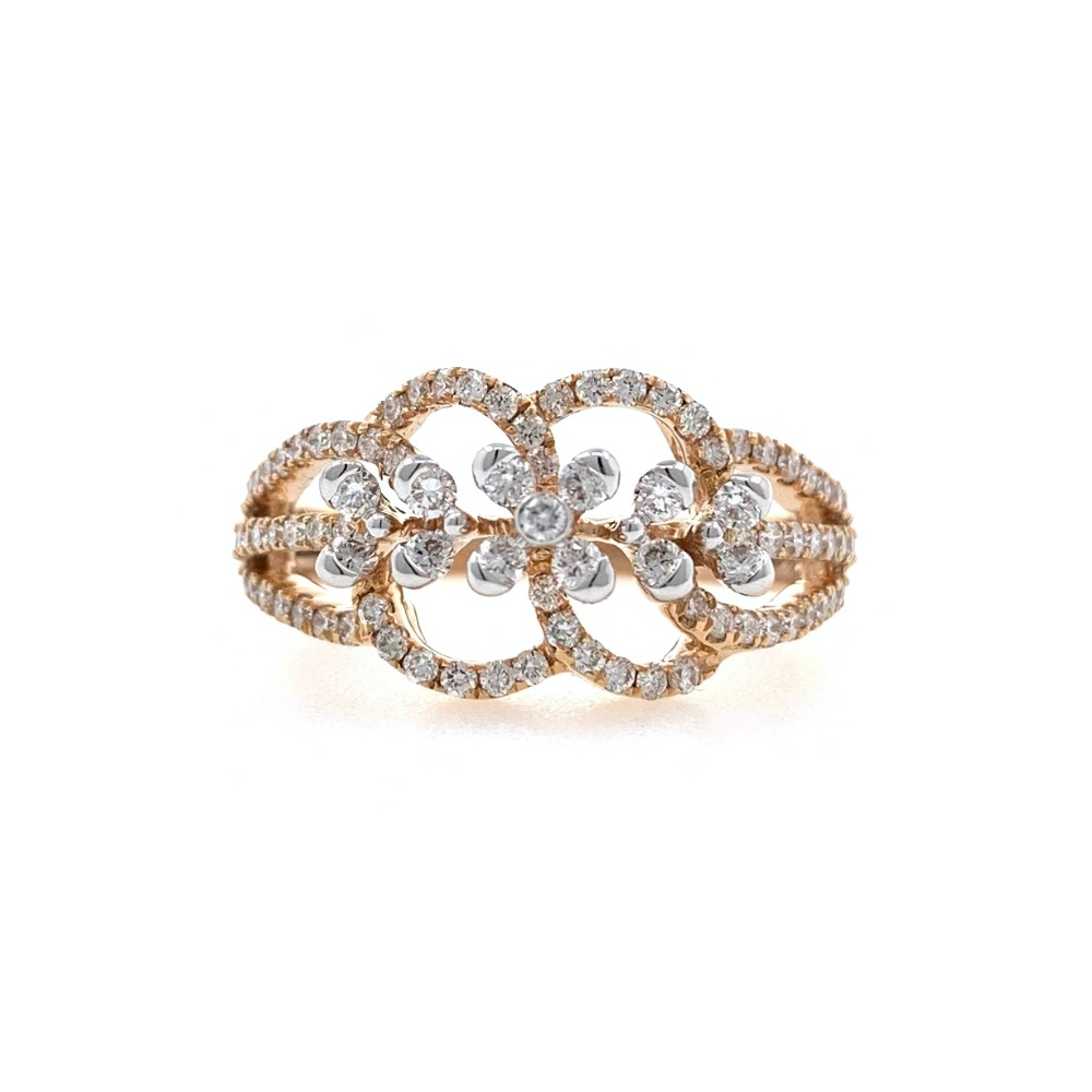 Nitidus diamond Ring for Ladies in 18k Rose gold - 3.610 grams - VVS EF 0.61 carat - 0LR65