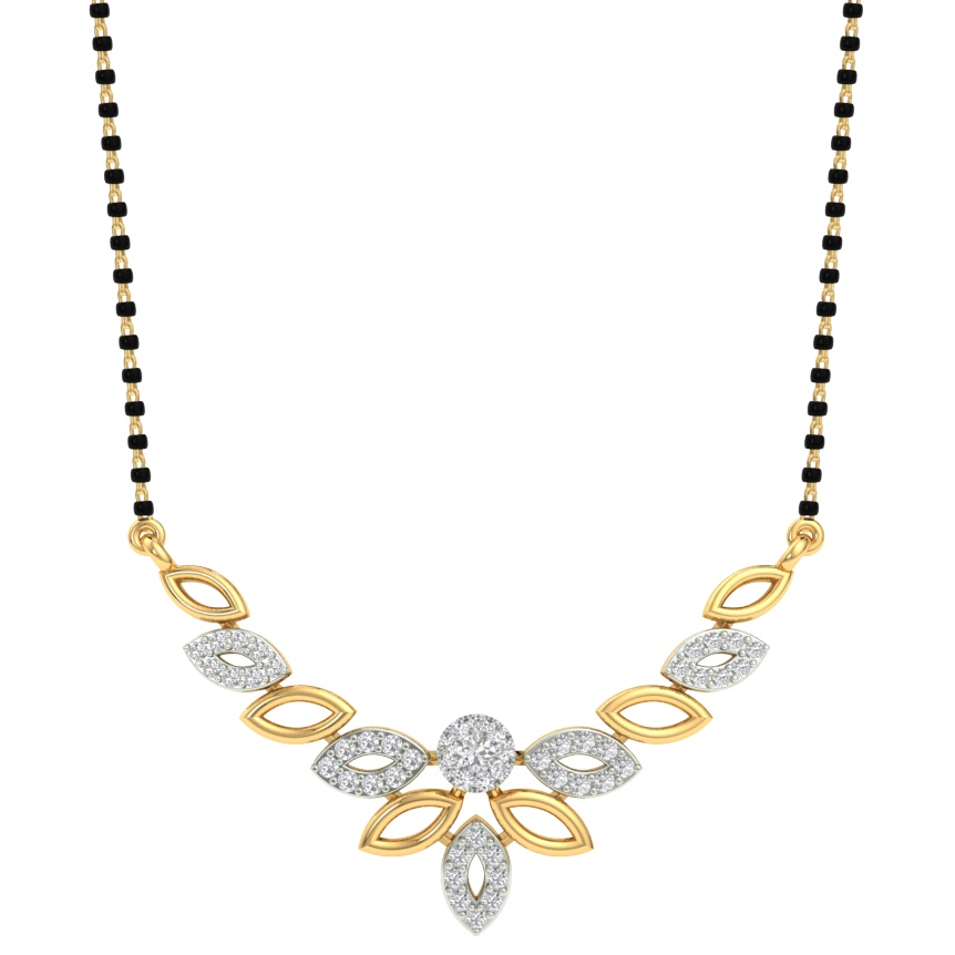 Branded fancy real diamond mangalsutra