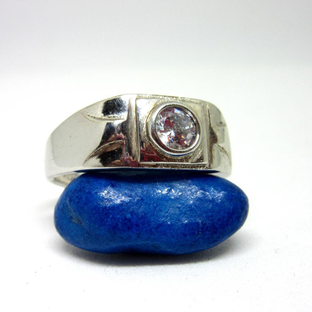 Silver 925 single stone casual ring sr925-82