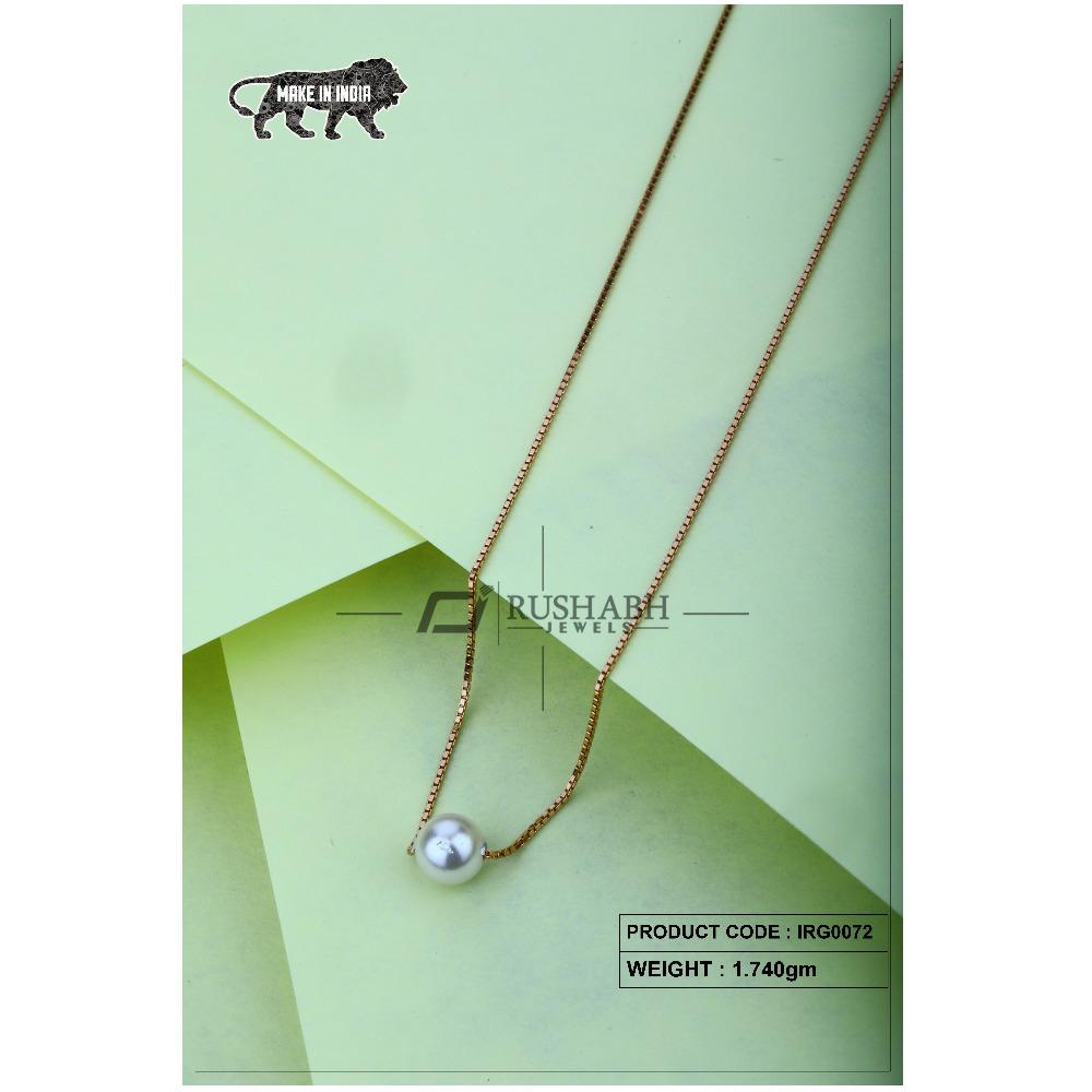 18 Carat Gold Ladies Italian Fancy Chains Pearl IRG0072