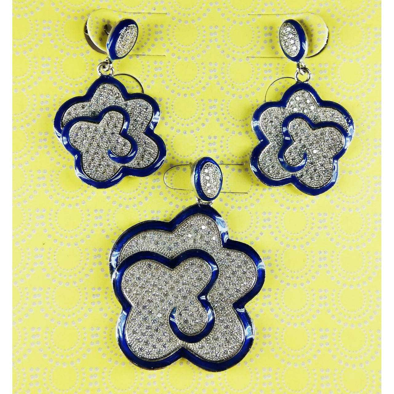 Latest Designed 925 Silver Pendant Set