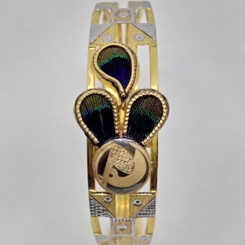 22KT Gold Peacock Design Copper bangle