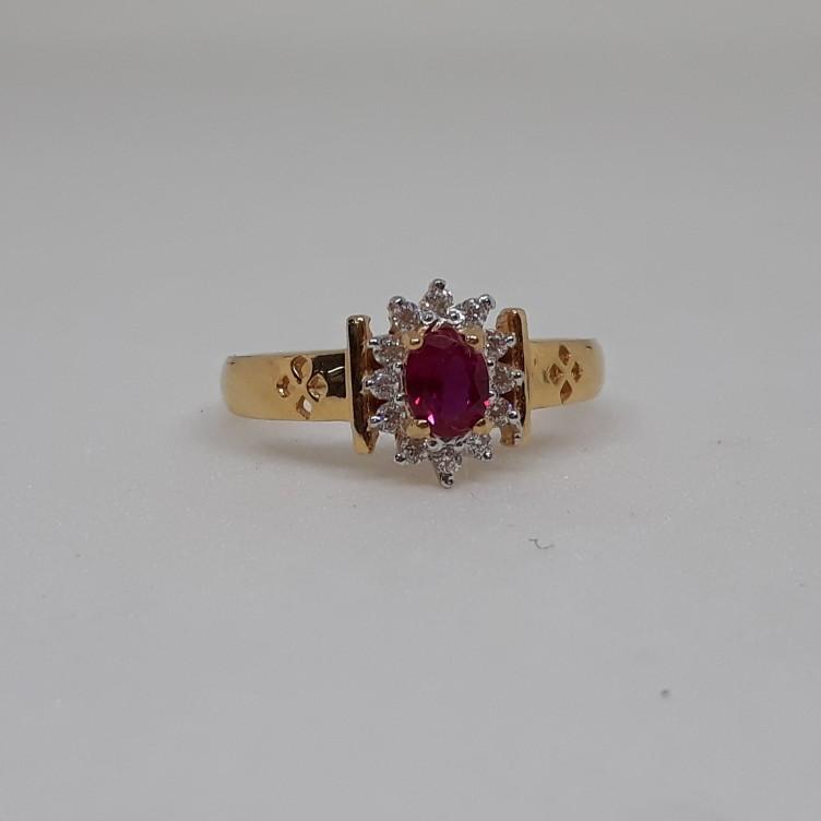22ct Fancy Pink Diamond Ring VT/921/7