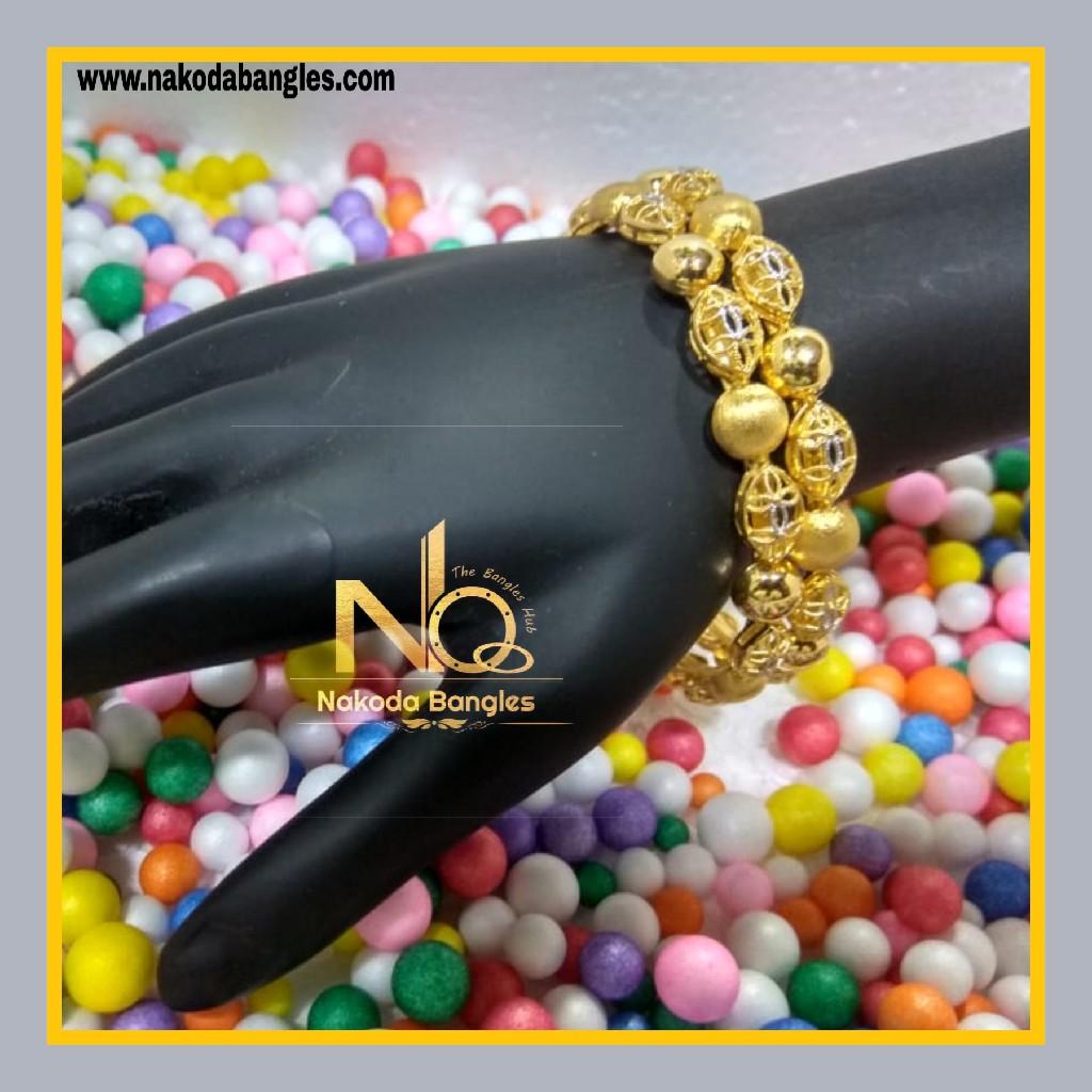 916 Gold Patra Bangles NB - 616