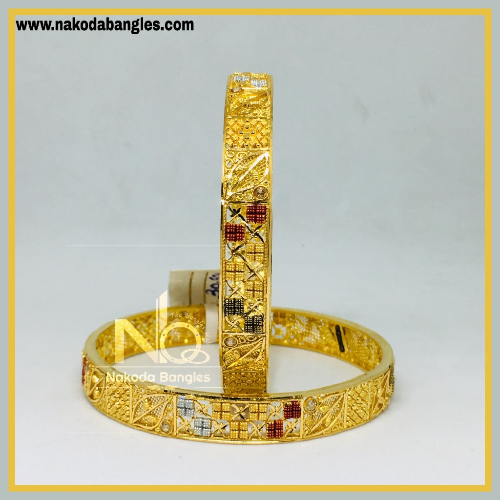 916 Gold Calcutty Bangles NB - 445
