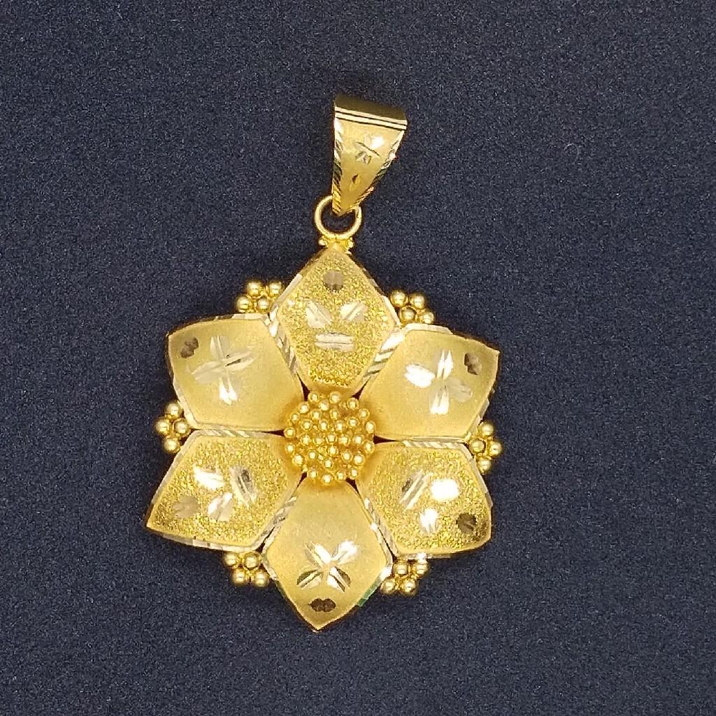 916 gold fancy pendant tj-038