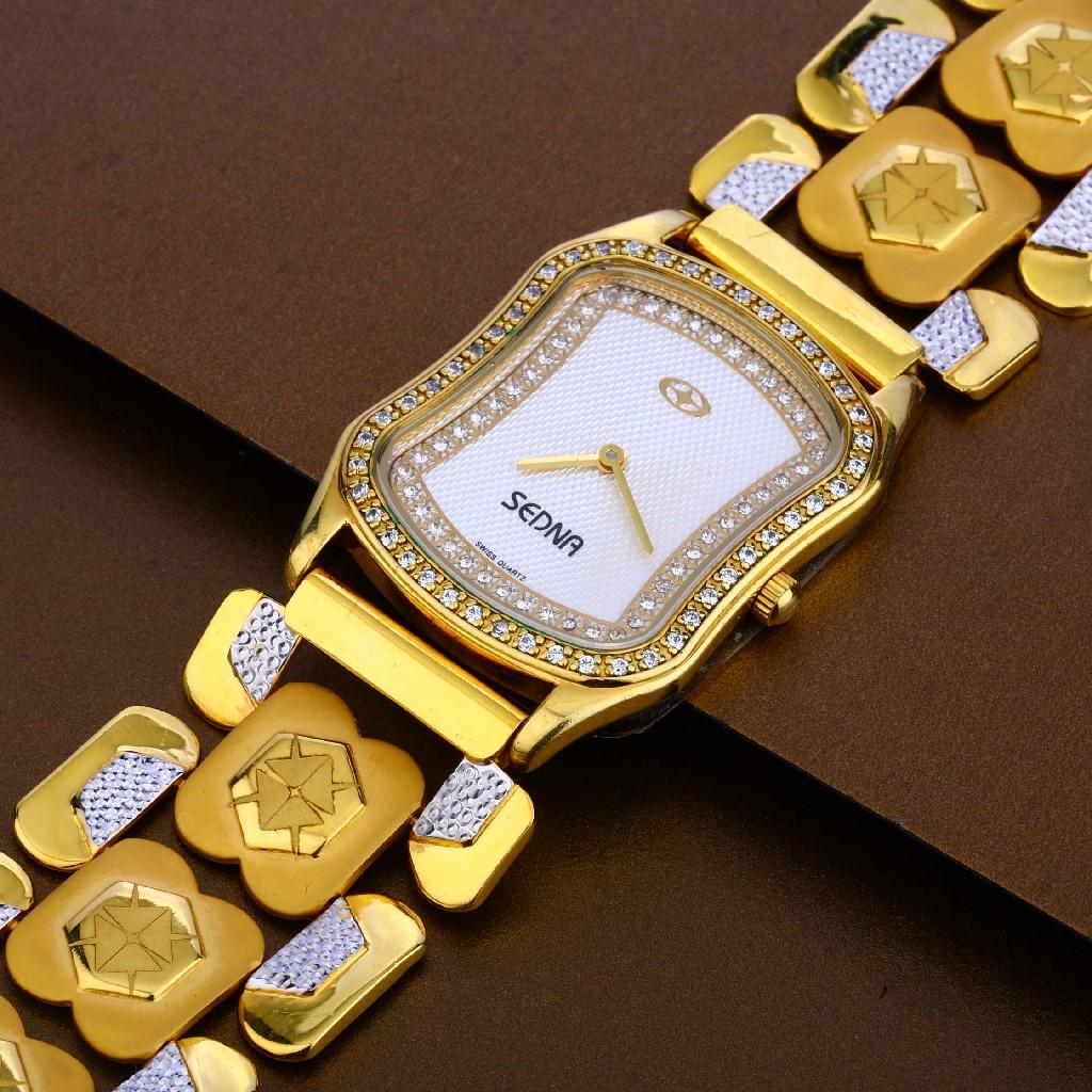 916 Gold Stylish Hallmark Mens Watch MW17