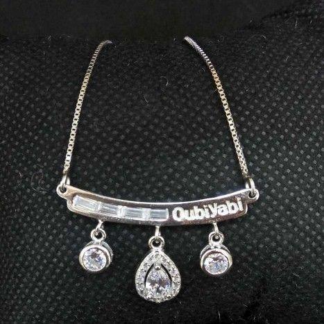 925 Sterling Silver Diamond Pendant Chain