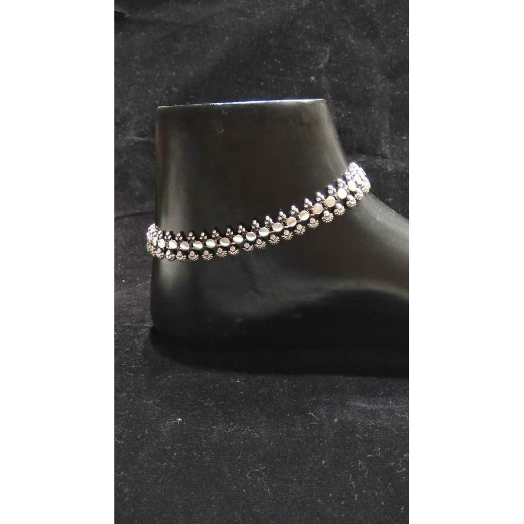 92.5 Sterling Silver Luxurious Anklet(Payal) Ms-3440