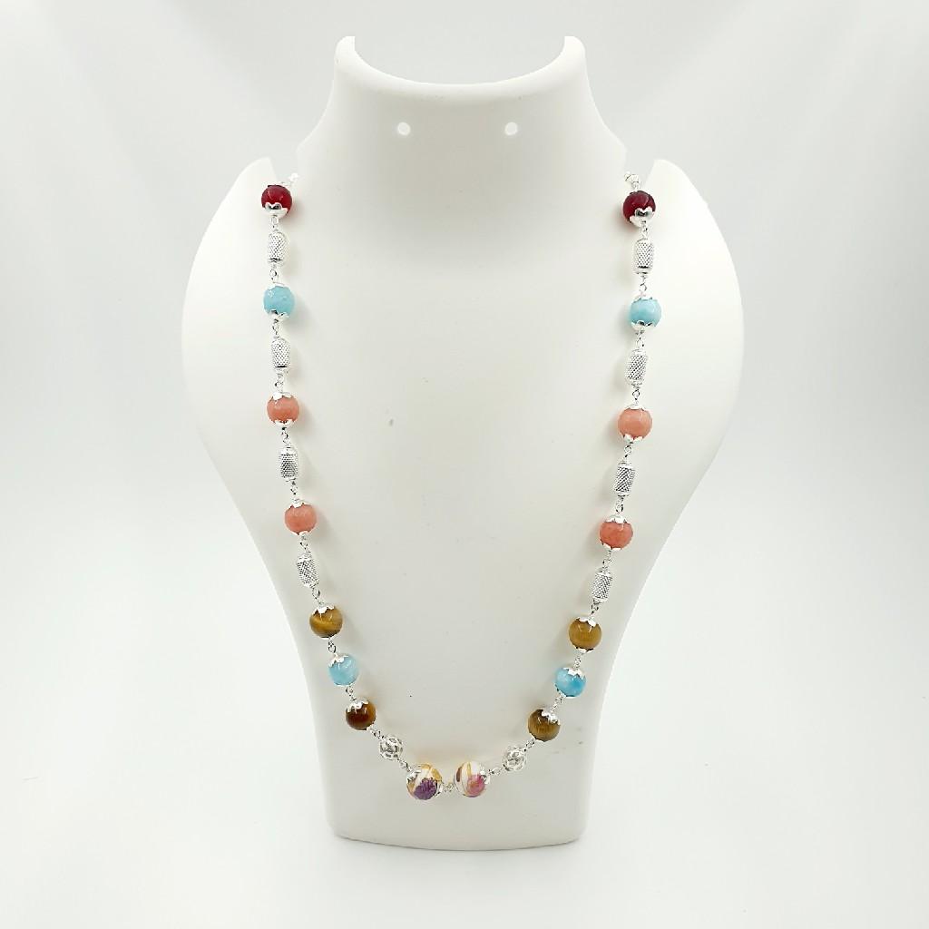 92.5 colourful stone mala sl m008