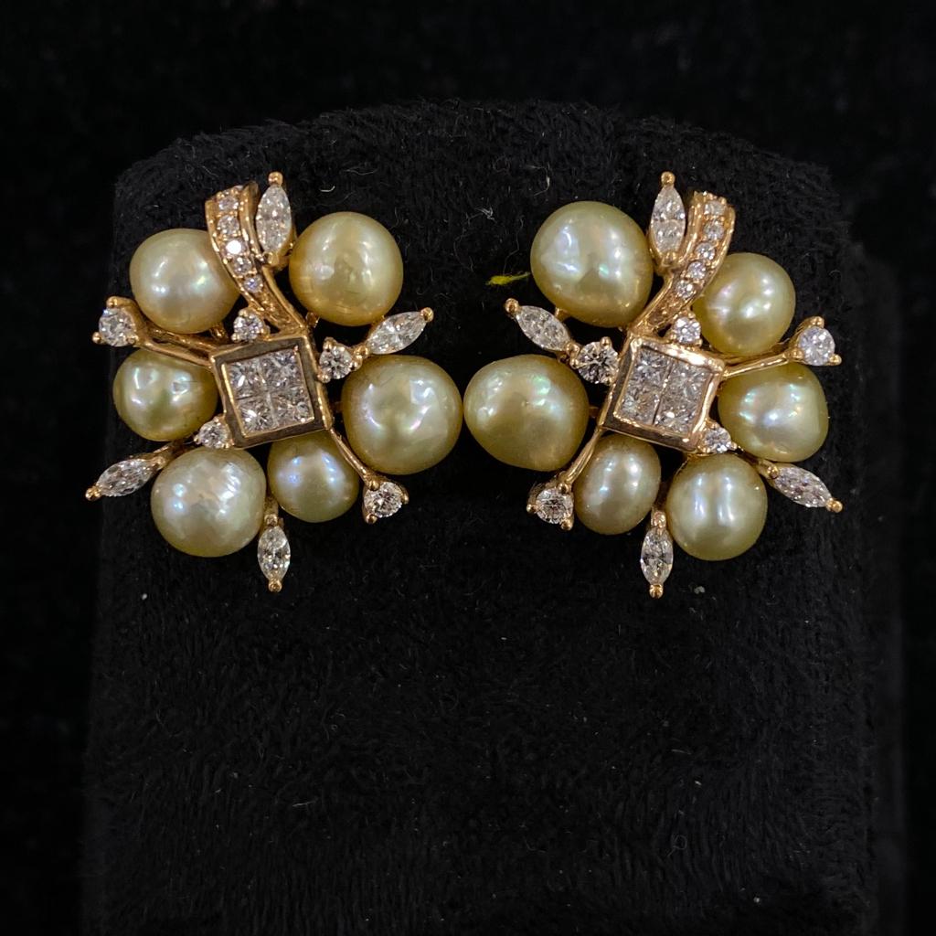 Pearl Diamond Fancy Earrings