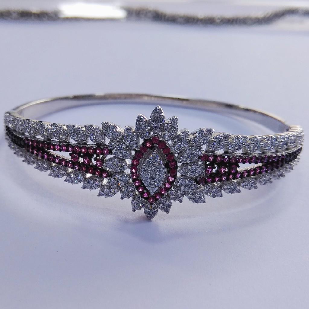 92.5 sterling silver cz stone Kada bracelet ML-91