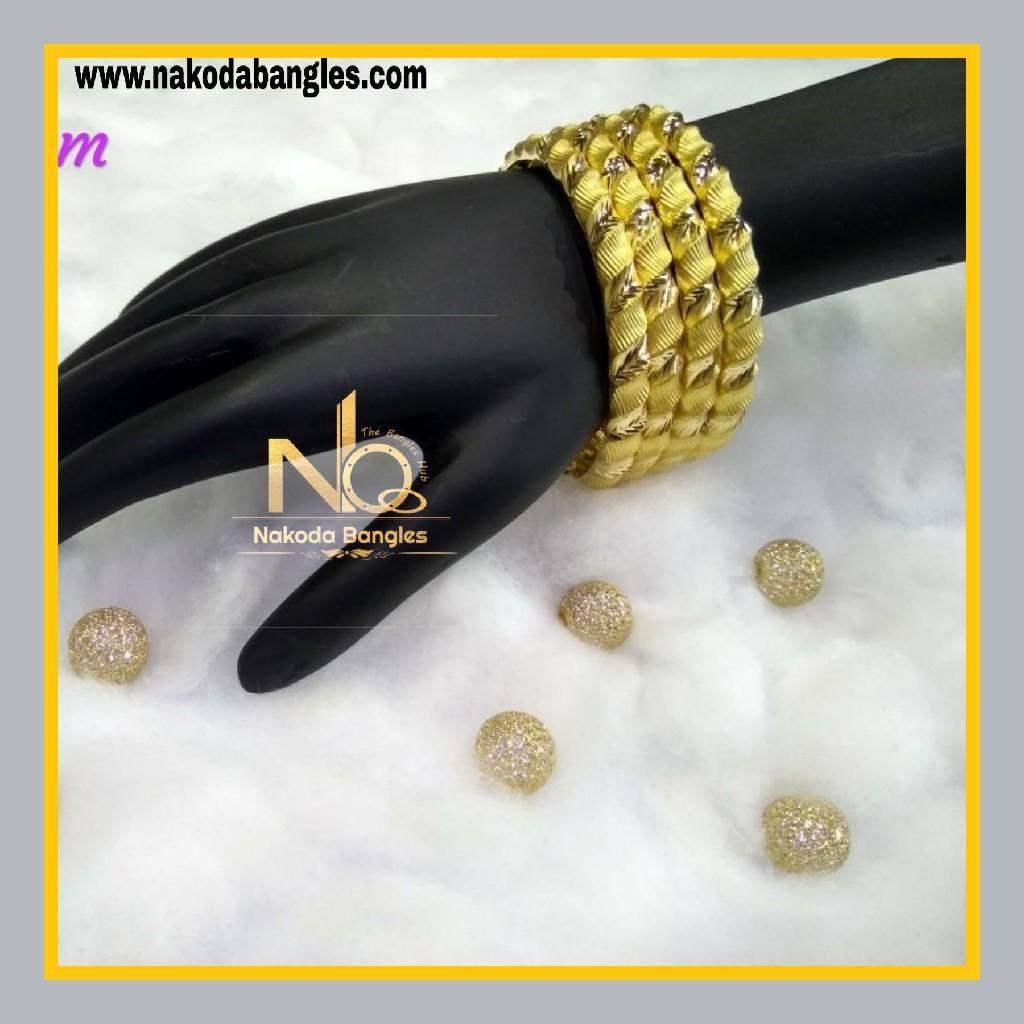 916 Gold Patra Bangles NB - 593