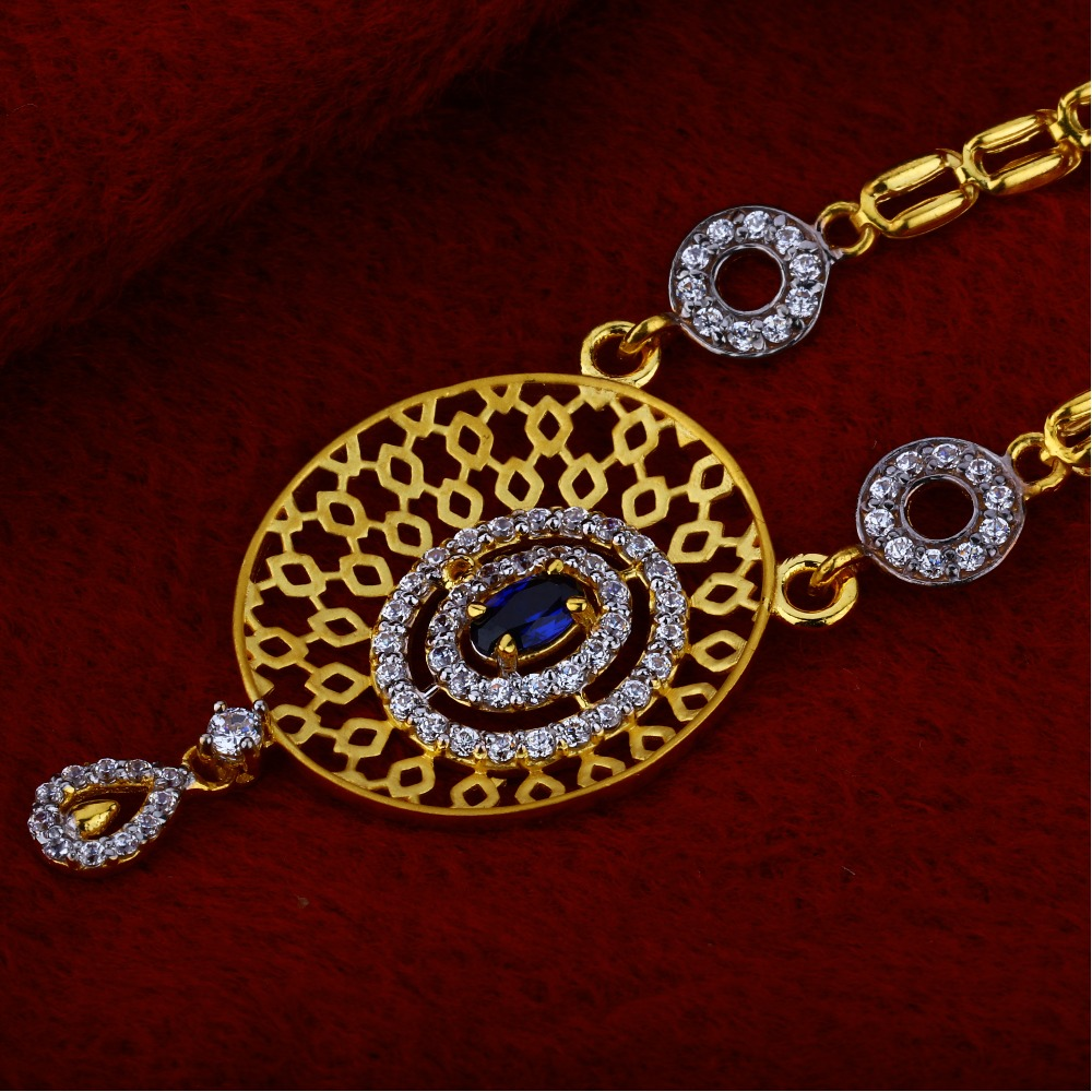 916 Gold Stylish  Hallmark Chain Necklace CN17