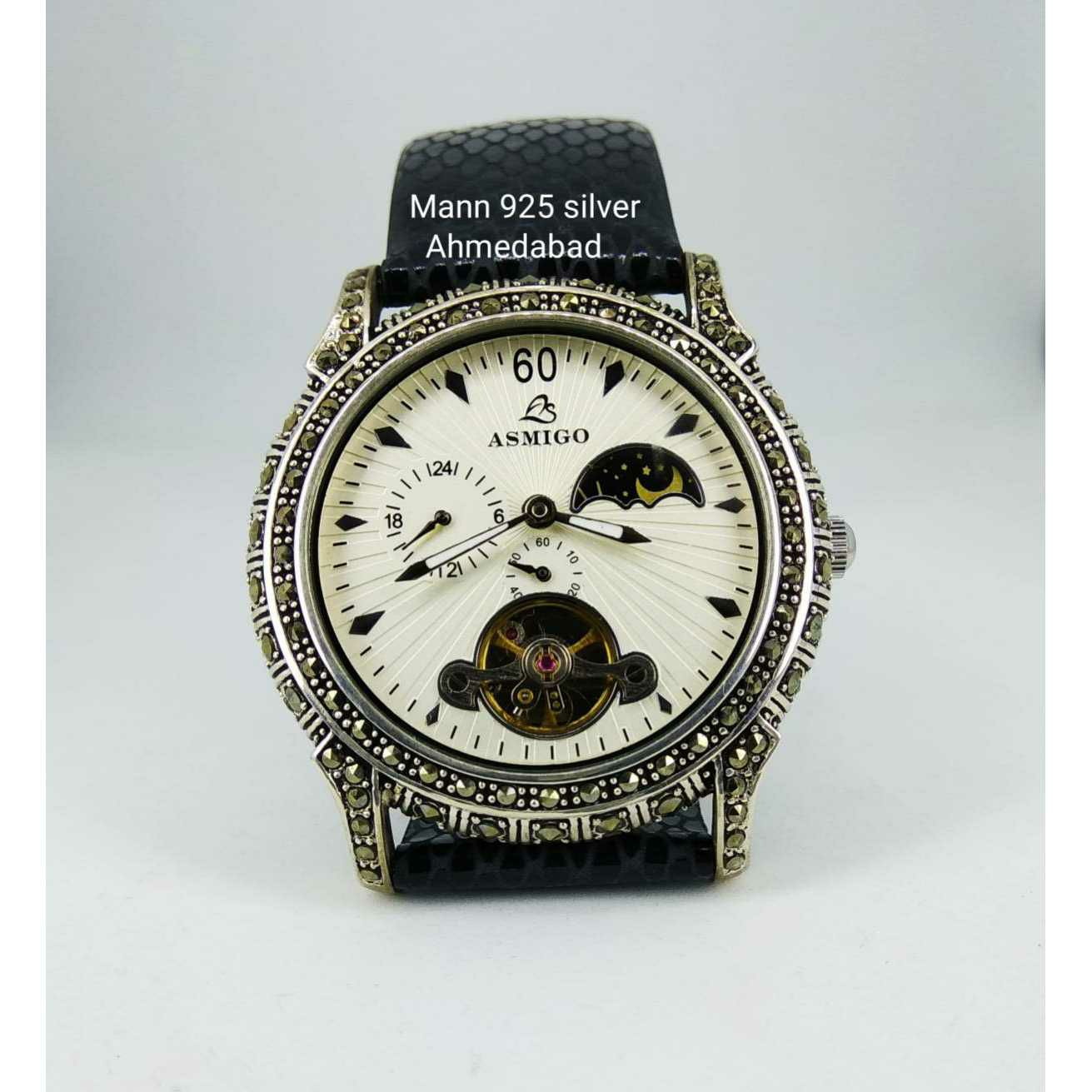 Fancy Expensive 925 Silver Gents Watch