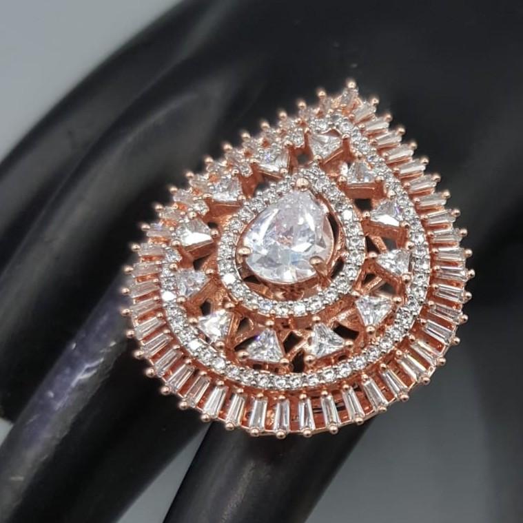 Beautiful rose white ring#679