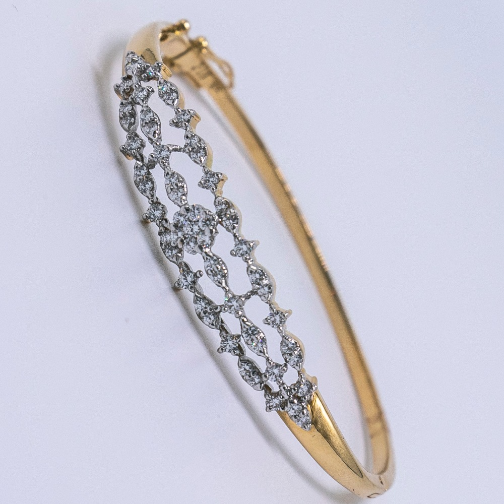 18k gold diamond ladies bracelet agj-lb-03