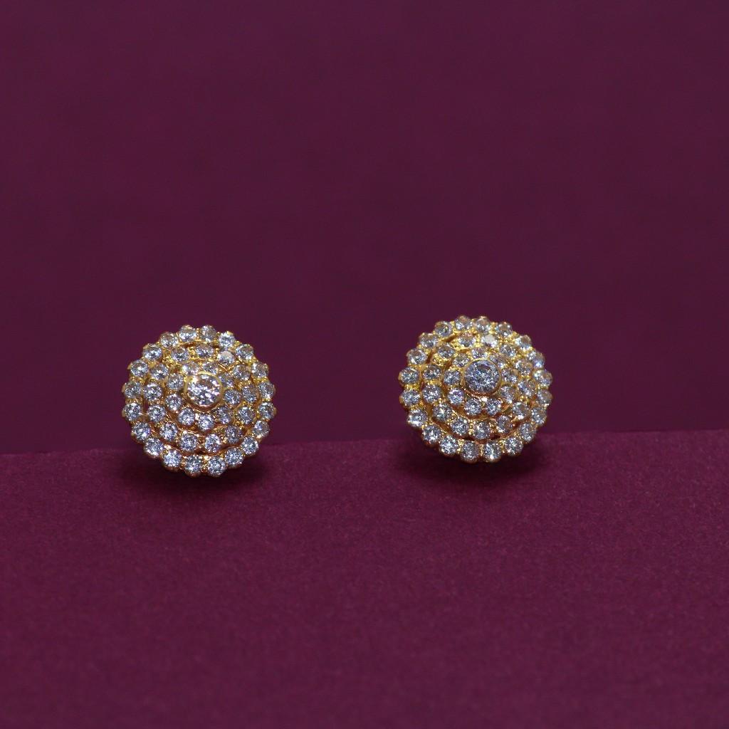 22KT Hallmarked Attractive gemstone Earring
