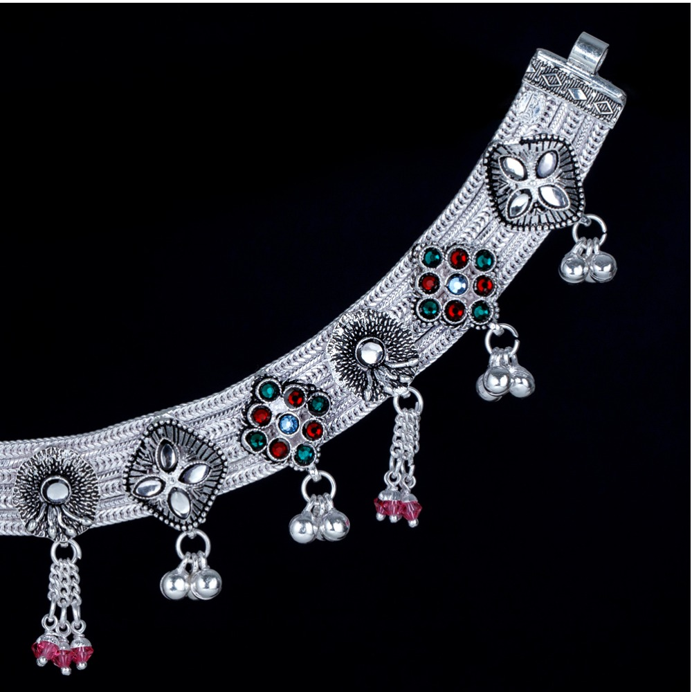 Silver Attractive Latkan Ghughari Payal