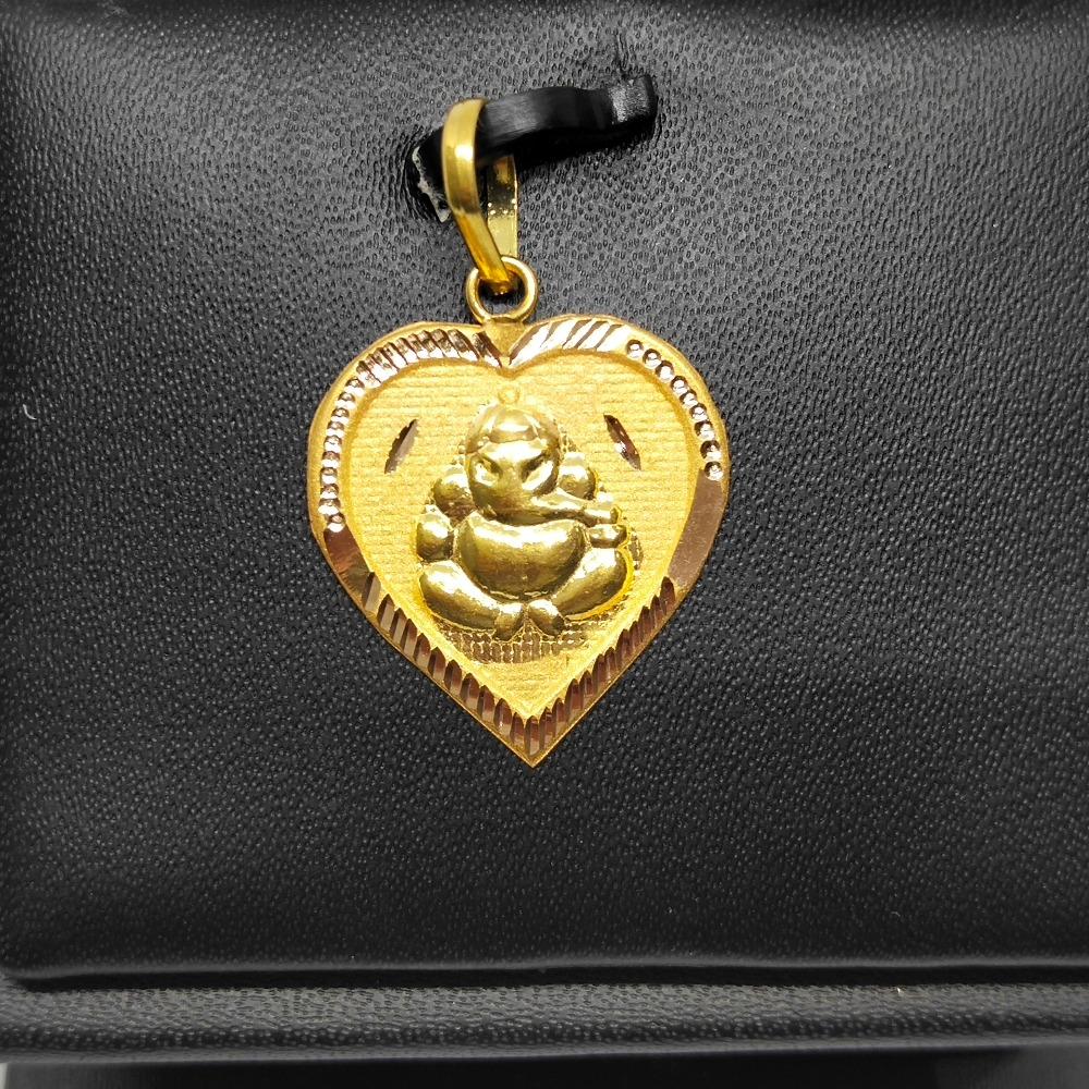 18Kt gold ganesha design pendant dj-p002