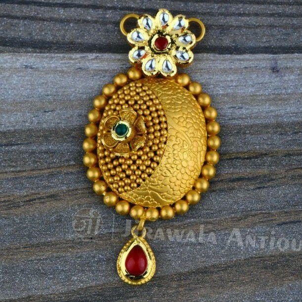Antique jadtar 22ct 916 gold mangalsutra pendant