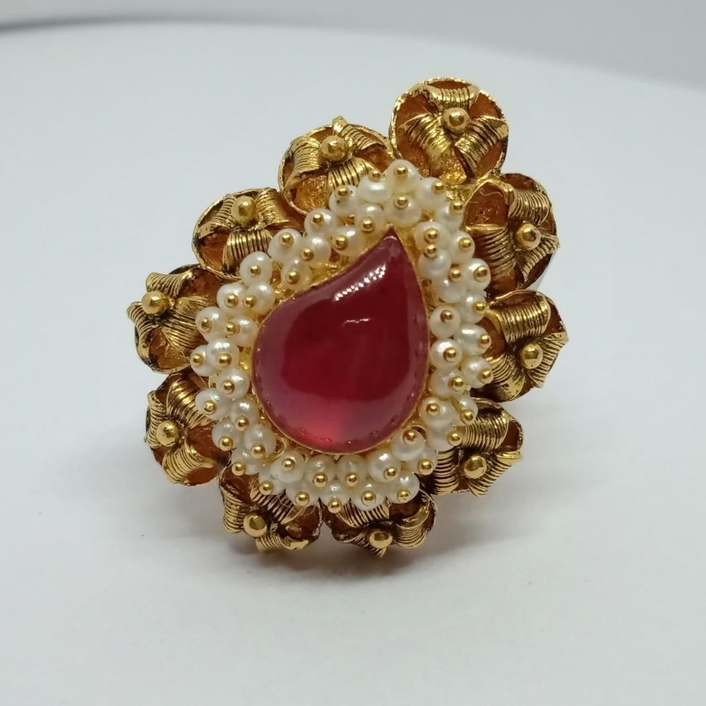 916 Gold Traditional Ladies Ring LJ-5