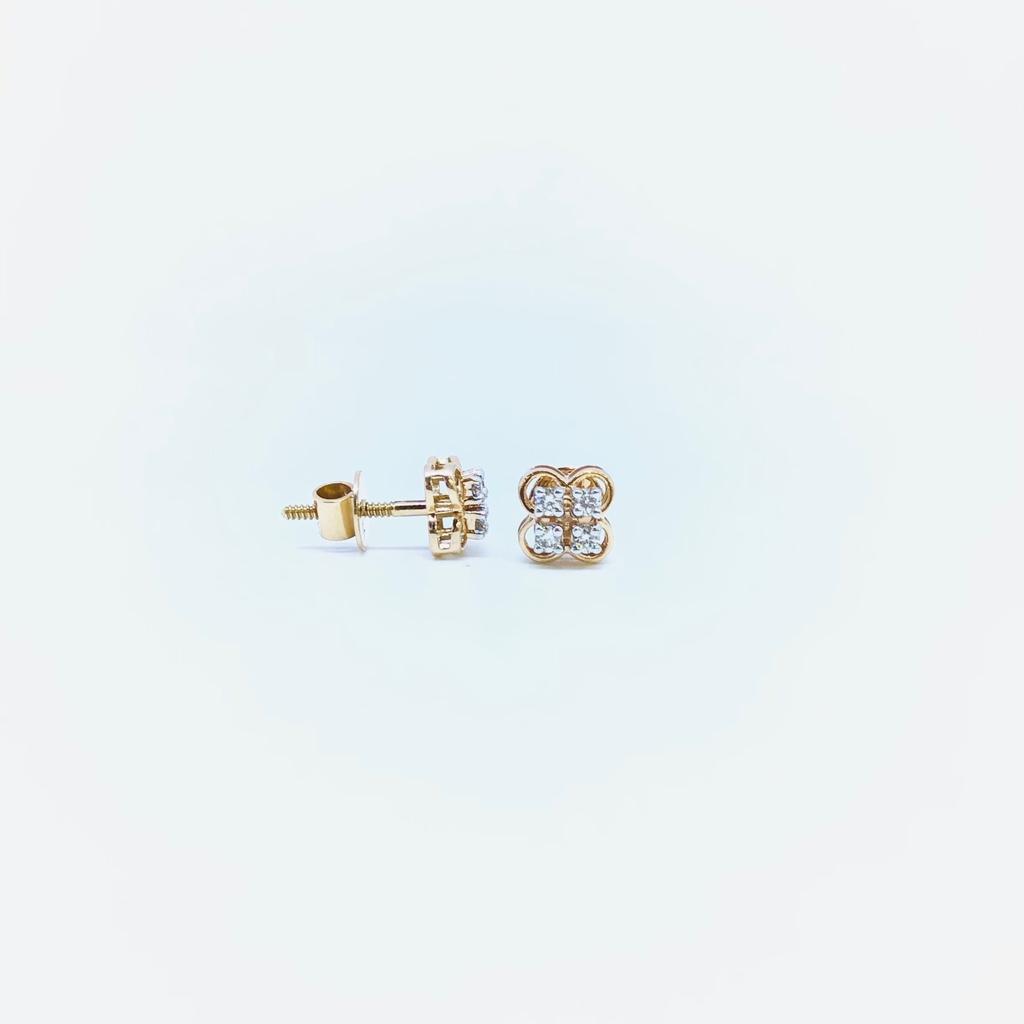 FANCY REAL DIAMOND ROSE GOLD EARRINGS