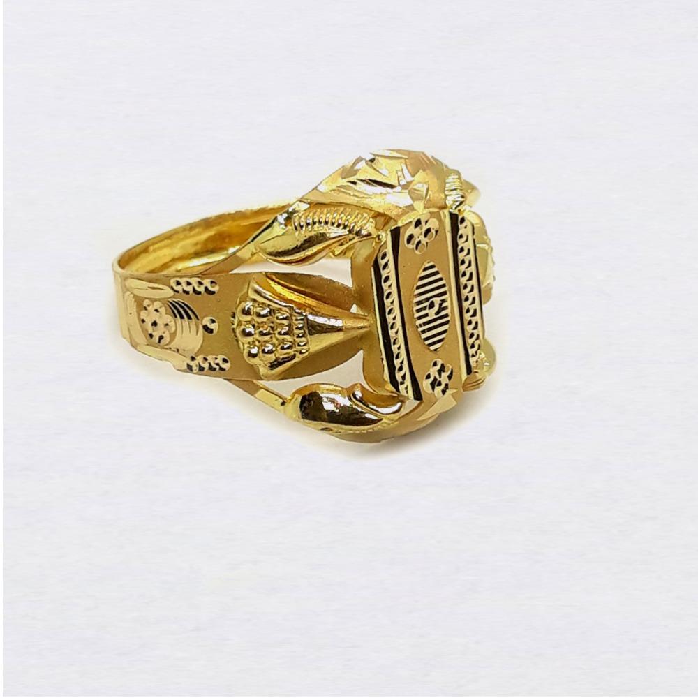 Light Weight Nazrana Design Gold Ring