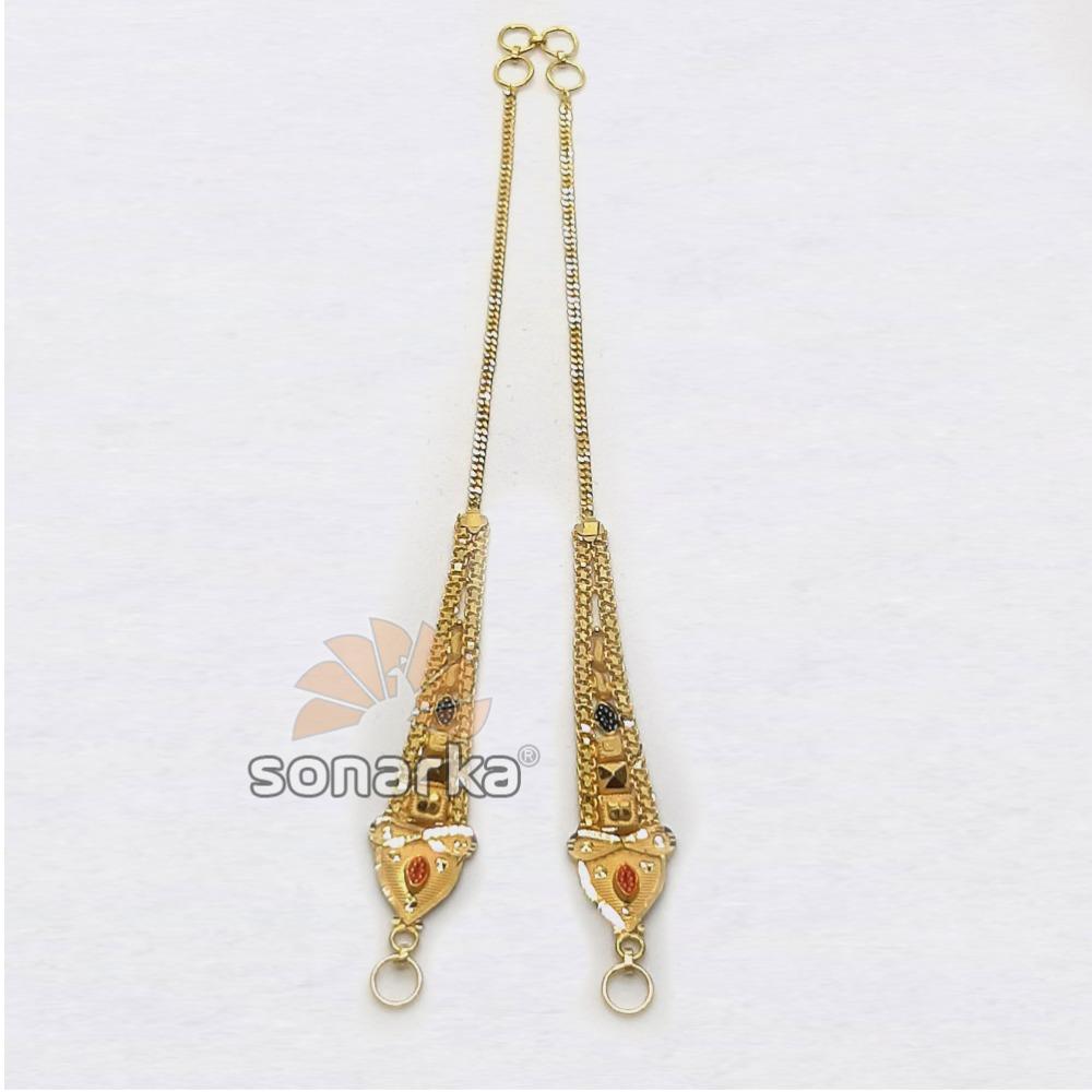 Gold Earchain SK - K020