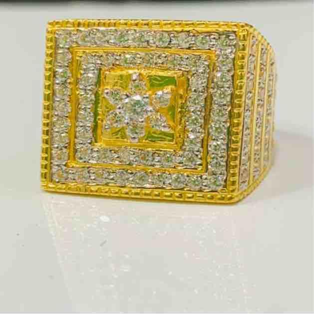 22kt 916 exclusive cz gents ring