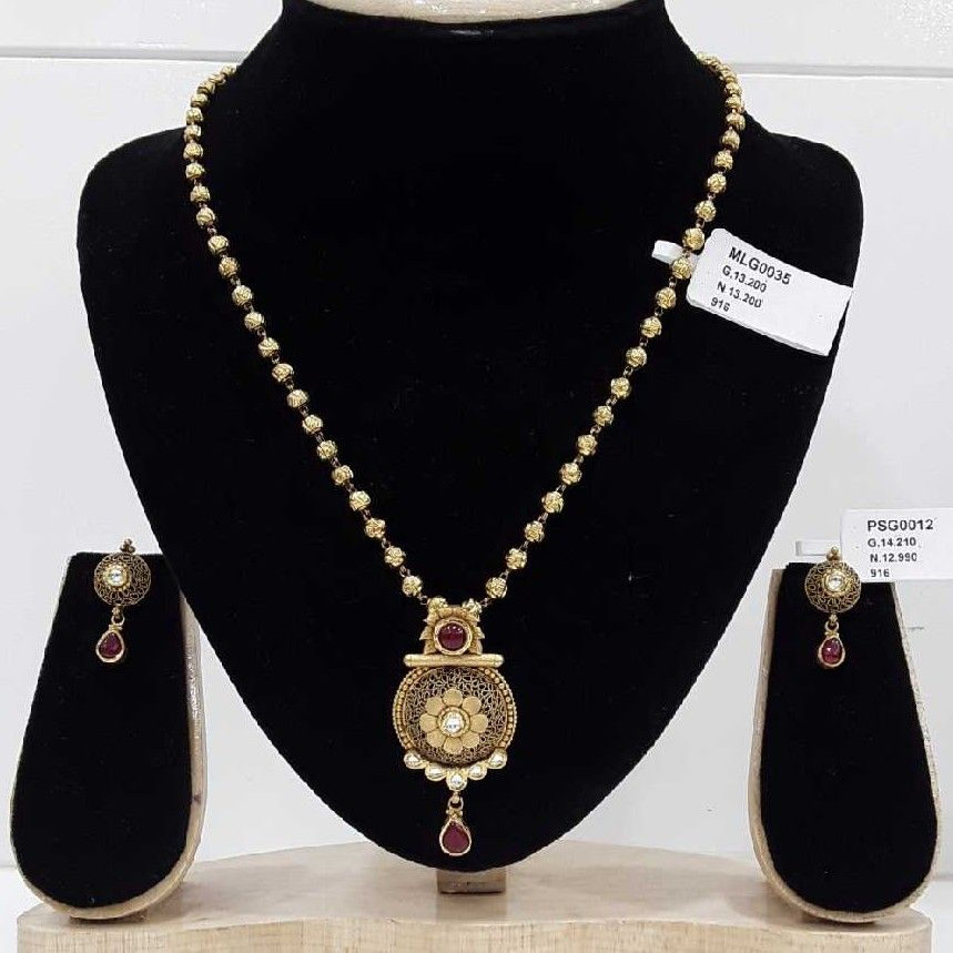916 Gold Mohanmala With P.set