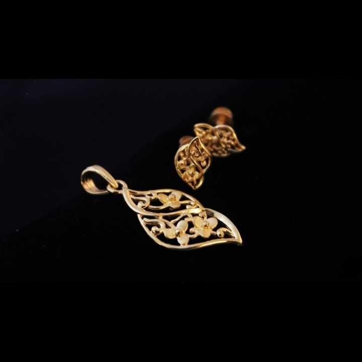 22 K Gold Pendant Set. nj-p01206