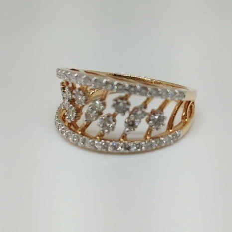 Real Diamond Rose Gold Branded Ladies Ring