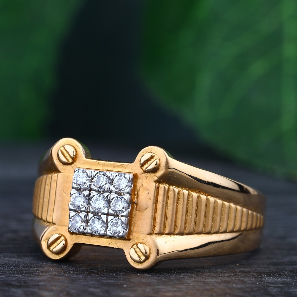 916 Gold Diamond Hallmark Delicate Ring
