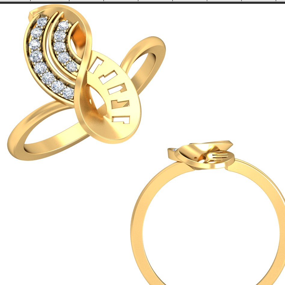 22kt Yellow Gold Ivonne Floral Ring For Women