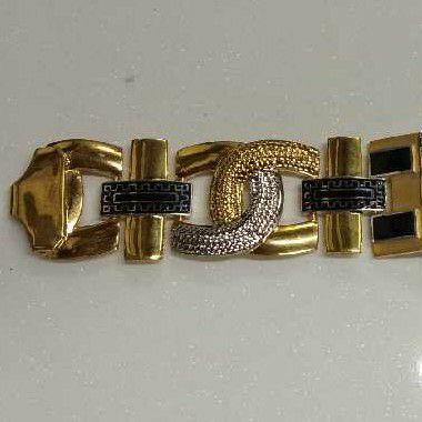 22KT Gold Handmade Hari Om Gents Bracelet