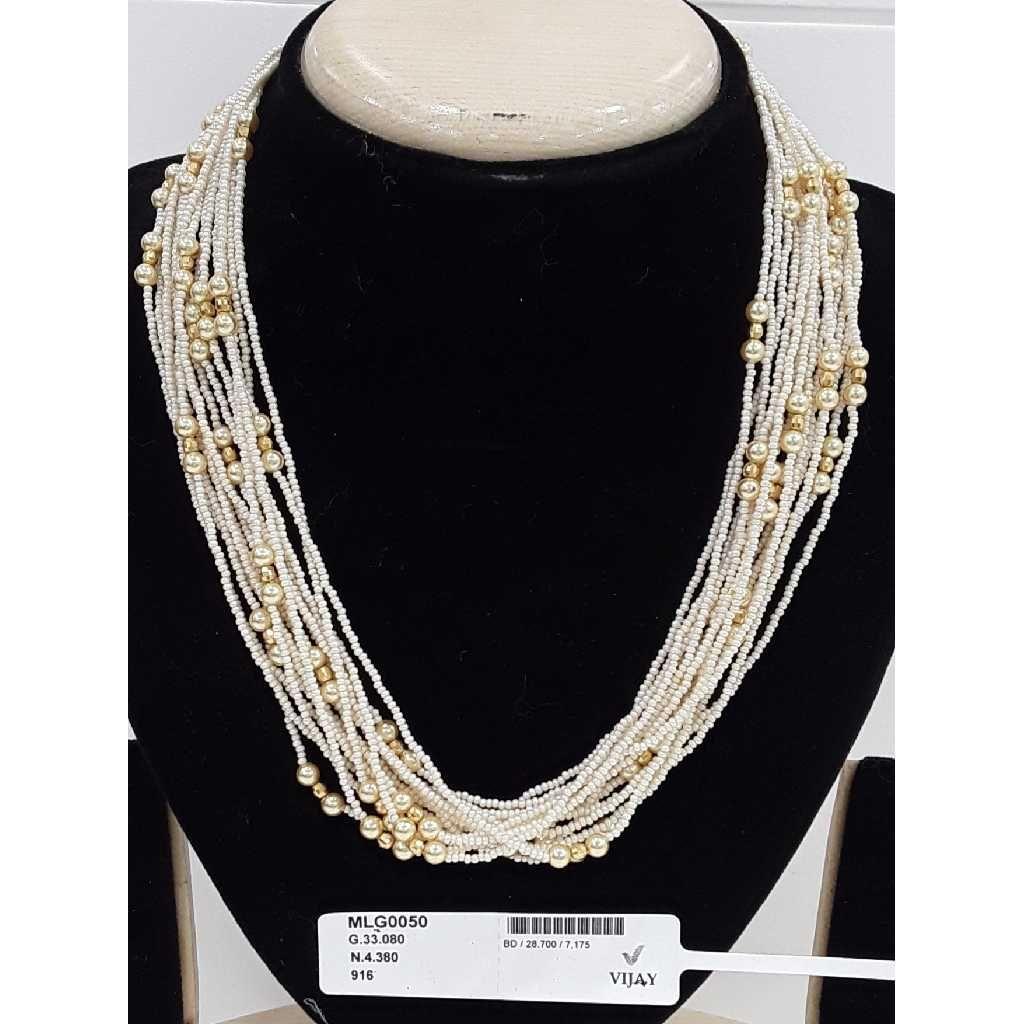 916 Antique Gold Mala