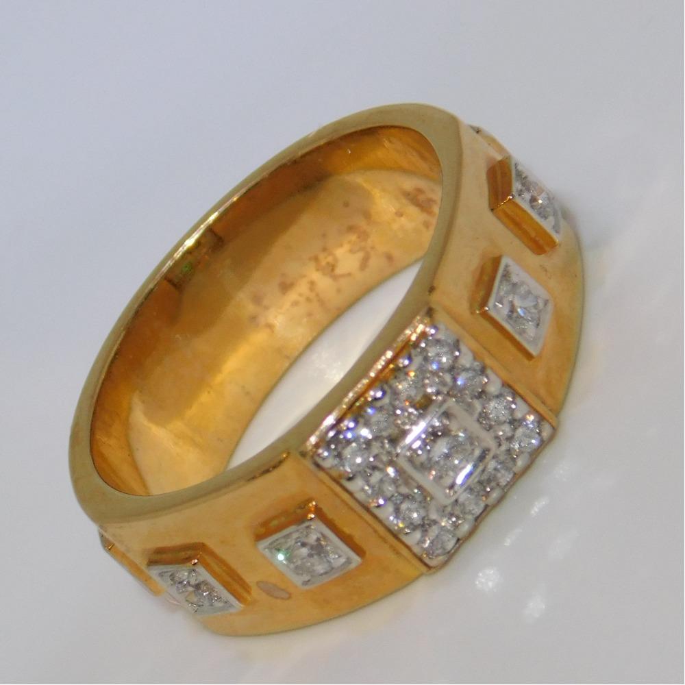 18k gold diamond ring agj-gr-81