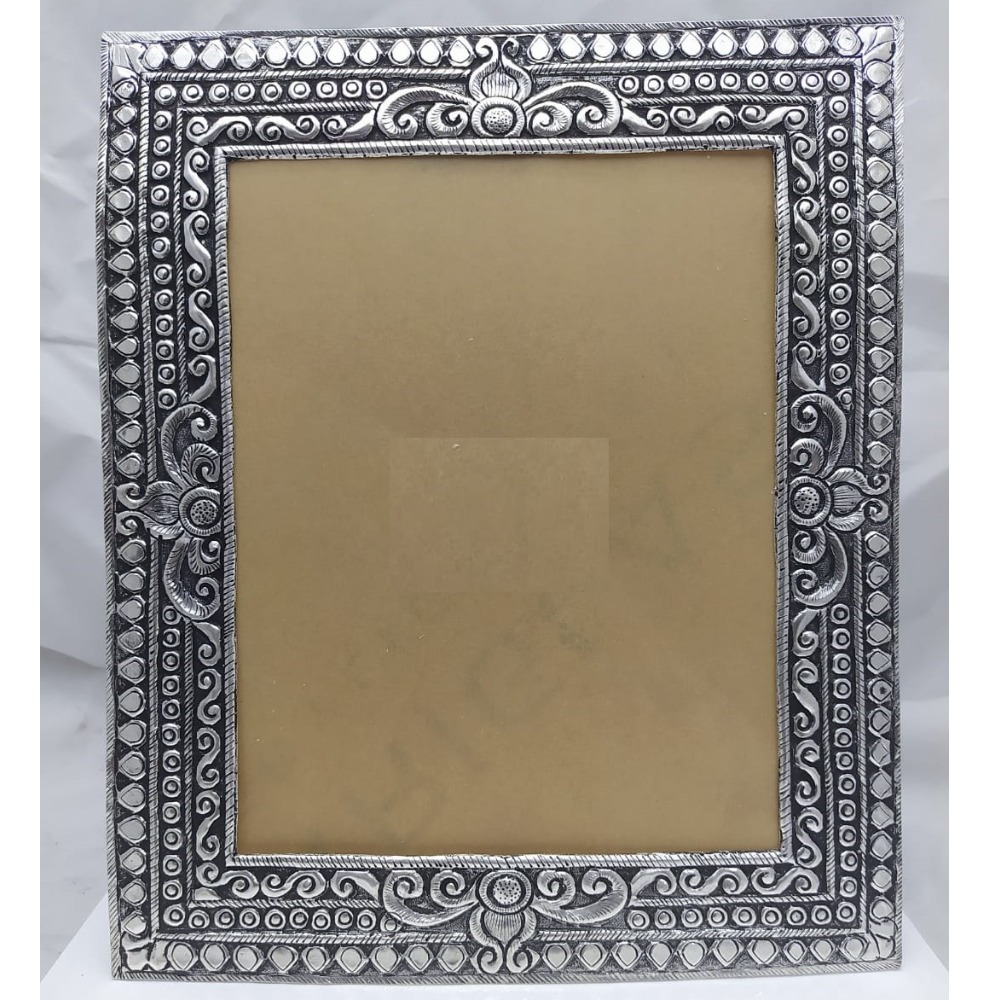 925 Pure Silver Photo Frame In Antique Nakashii work PO-171-21