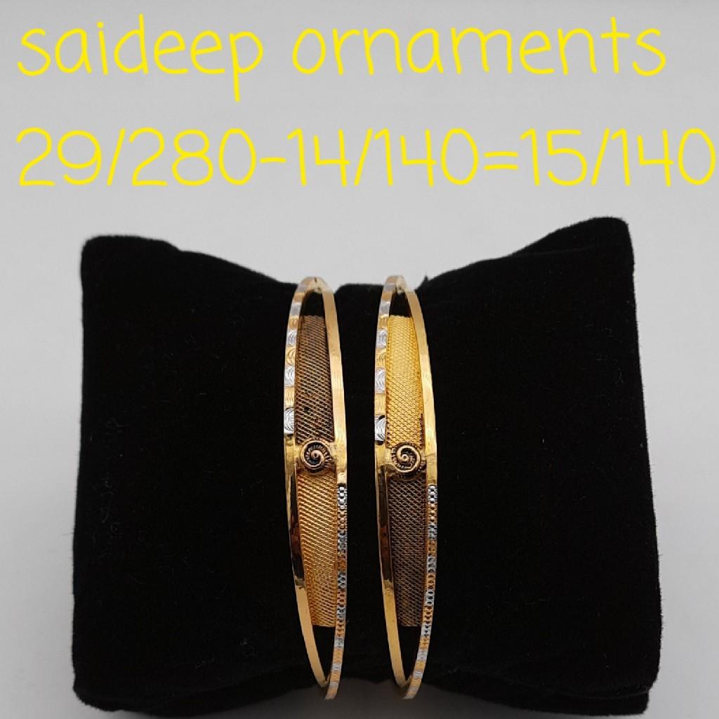 22 kt design copper bangles  design